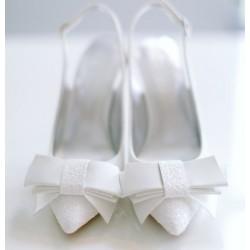 Kiss Wedding Shoes | Ella brokatowa biel