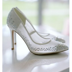 Ksis Wedding Shoes | Claudia łamana biel