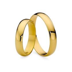 Półokrągłe obrączki ślubne ze złota 585