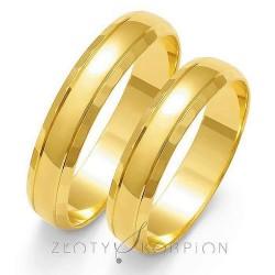 Obrączki ślubne Złoty Skorpion Subtelna
