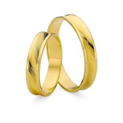 Złote diamentowane obrączki ślubne