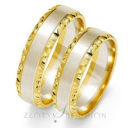 Obrączki Złoty Skorpion Romantyczna