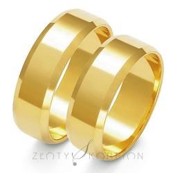 Szerokie złote obrączki ślubne Złoty Skorpion