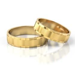 Płaskie złote obrączki ślubne