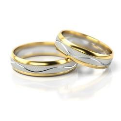 Obrączki z żółtego i białego złota