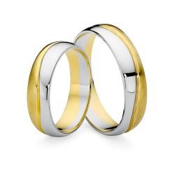 Obrączki ślubne dwukolorowe złoto 585
