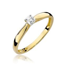 Złoty pierścionek zaręczynowy 585 Klasyka