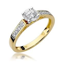 Złoty pierścionek zaręczynowy z brylantami 0,42ct Galaktyki