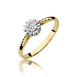Wielokamieniowy pierścionek zaręczynowy brylanty