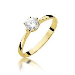 Złoty pierścionek 333 z cyrkonią zaręczynowy Laura Daria