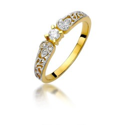 Złoty pierścionek z brylantami Obietnice