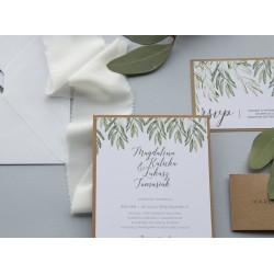 Zaproszenia ślubne Green Olive