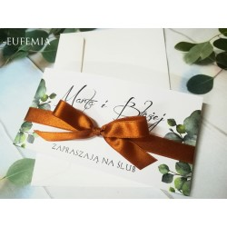 Zaproszenia Ślubne Eufemia - Eukaliptus