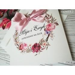Zaproszenia Ślubne Flower 2