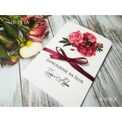 Zaproszenie Ślubne Iwetta