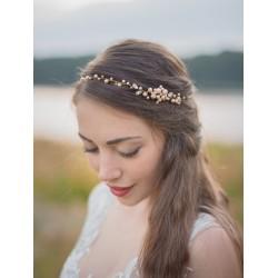 Ozdoba ślubna do włosów - odcień brzoskwiniowy