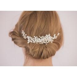 Ozdoba ślubna o włosów - stroik z perełek