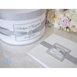 Zestaw ślubny - pudełko i księga gości
