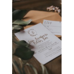 Zaproszenie Rose Gold