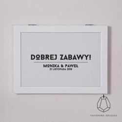 PLAKAT POWITALNY MONIKA + PAWEŁ