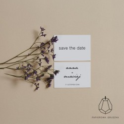 SAVE THE DATE ANNA + MACIEJ