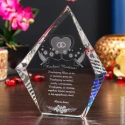 Podziękowanie dla rodziców » Więzy Miłości 3D « szklany liść