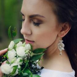 Amelia koronkowe kolczyki ślubne