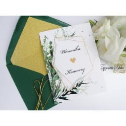 Zaproszenia Ślubne Geometryczne
