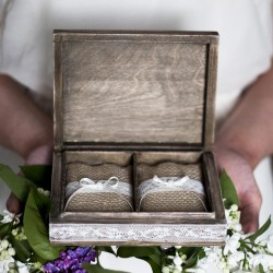 OTTAWA Cudne rustykalne pudełko na obrączki
