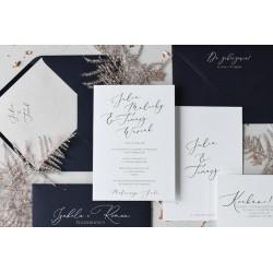 Zaproszenia ślubne Clear Love