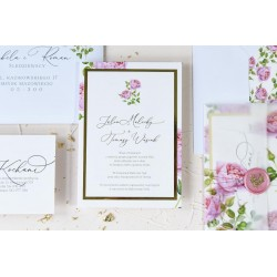 Zaproszenia ślubne English Roses