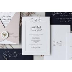 Zaproszenia ślubne Grey Castle