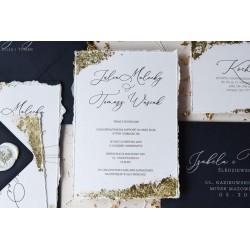 Zaproszenia ślubne Gold Dust