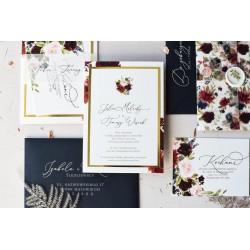 Zaproszenia ślubne English Marsala