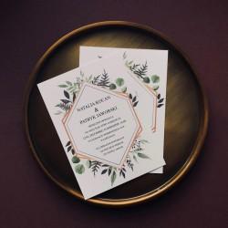 Zaproszenie z motywem roślinnym