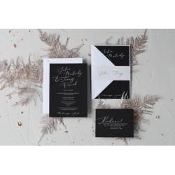 Zaproszenia ślubne Clear Love Black