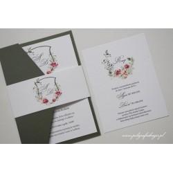 Zaproszenia ślubne z monogramem