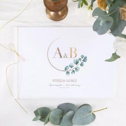 KSIĘGA GOŚCI weselnych z imionami Eukaliptus