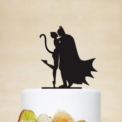 KONTUR dekoracyjny na tort Batman&Catwoman
