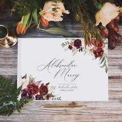 KSIĘGA GOŚCI weselnych Marsala BIAŁE/CZARNE KARTKI
