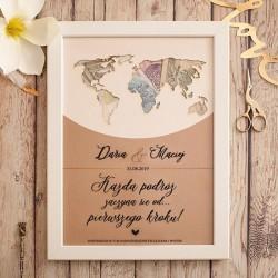 PREZENT Mapa świata personalizowana na pieniądze