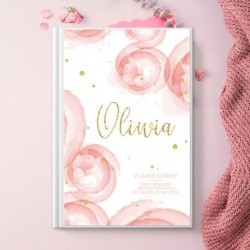 PLANNER dla Panny Młodej personalizowany Różowa Akwarela
