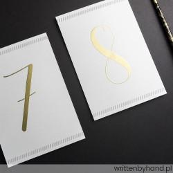 Numer stołu - Eleganckie Płynne Złoto