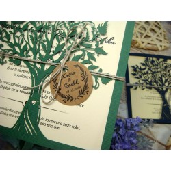 """zaproszenia ślubne """"Drzewo Zakochanych"""""""