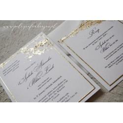 Zaproszenie ślubne gold