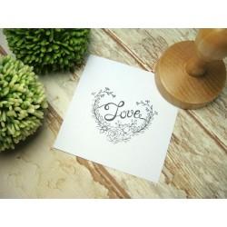 pieczątka ślubna z napisem Love
