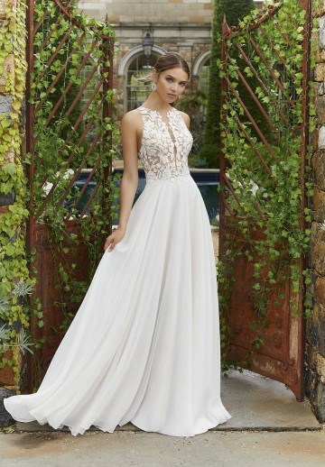 bacf8c8828 Zwiewna suknia do ślubu 5703 Polina od Mori Lee