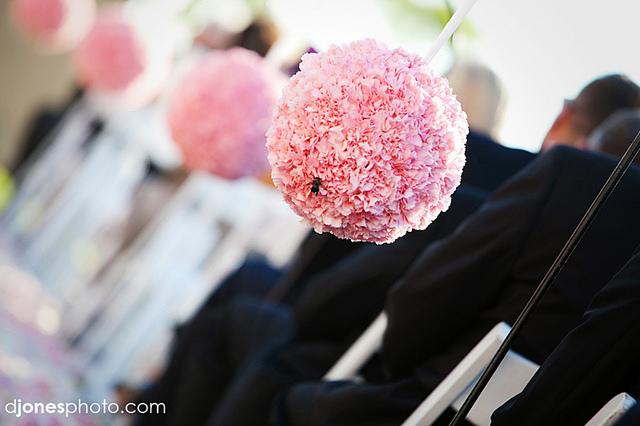 dekoracje weselne slub pudrowy roz