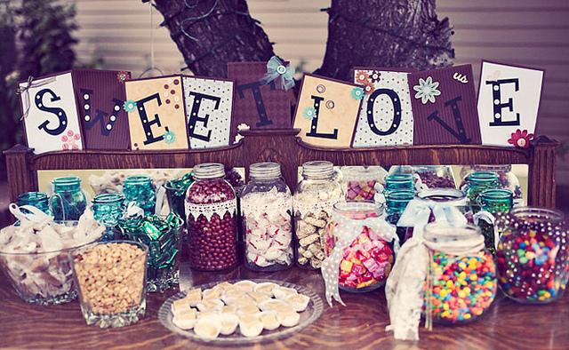 dekoracje weselne sweet love candy bar
