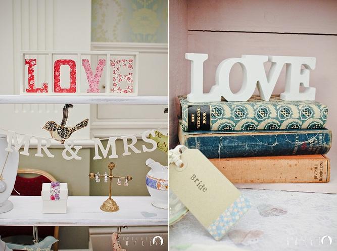 dekoracje weselne napis love